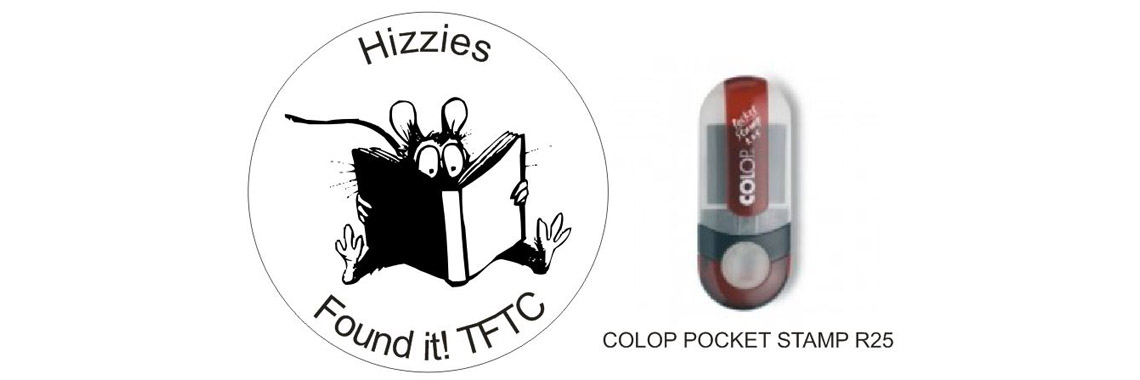 Geocaching stamp Colop R25